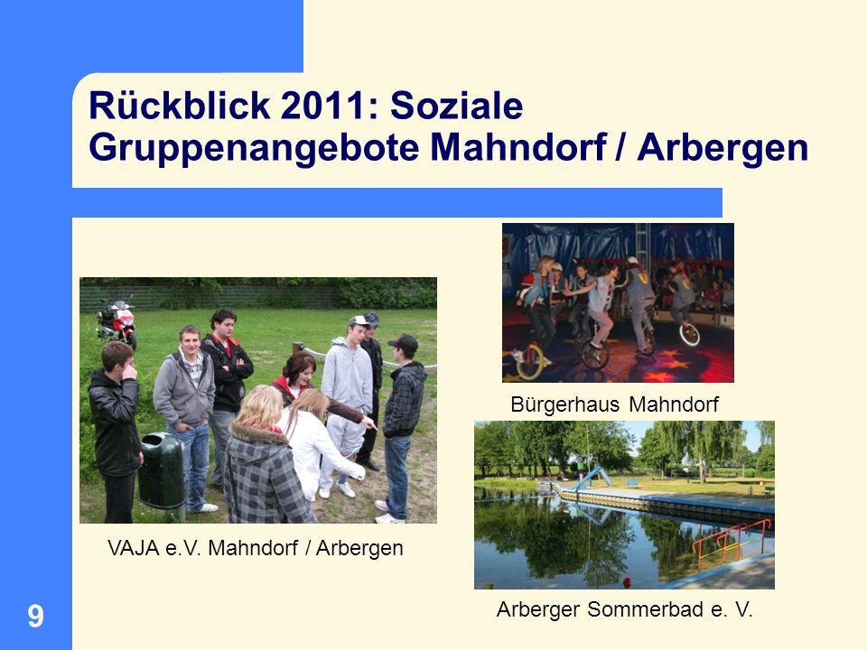 Rückblick 2011: Soziale Gruppenangebote Mahndorf / Arbergen