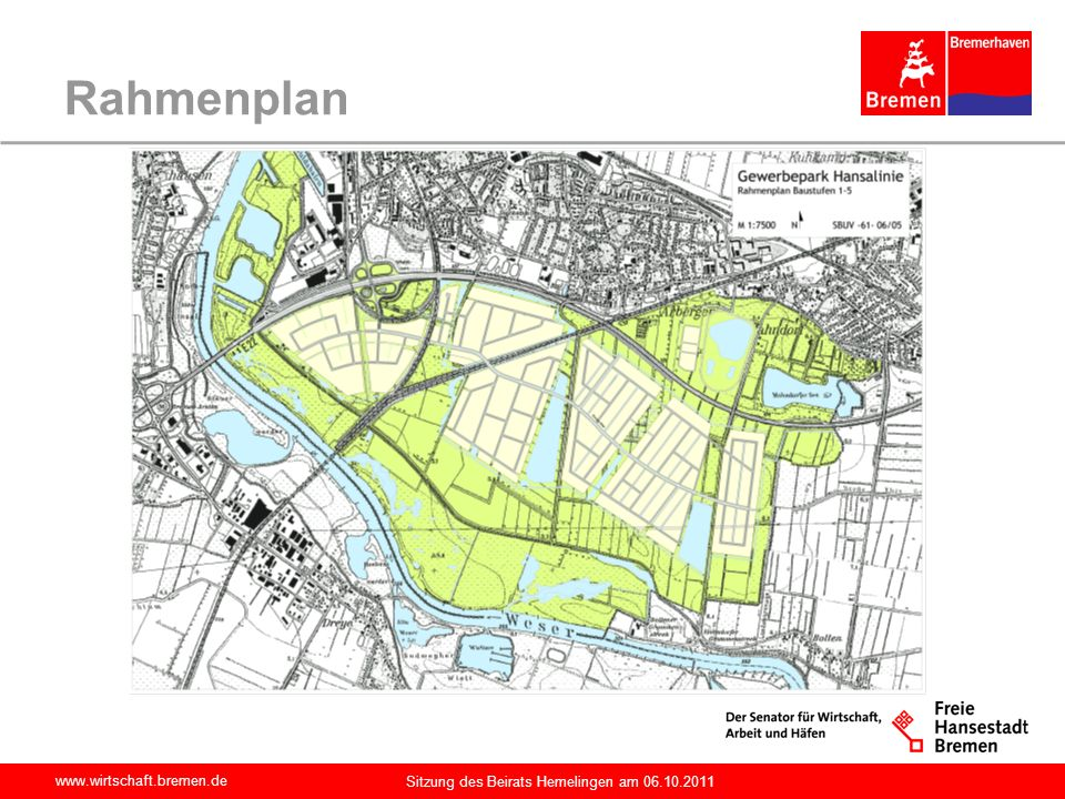Rahmenplan Sitzung des Beirats Hemelingen am 06.10.2011