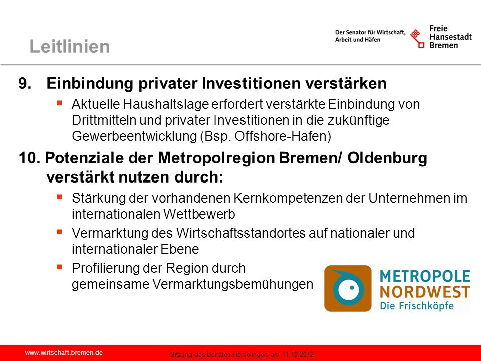 Leitlinien Einbindung privater Investitionen verstärken