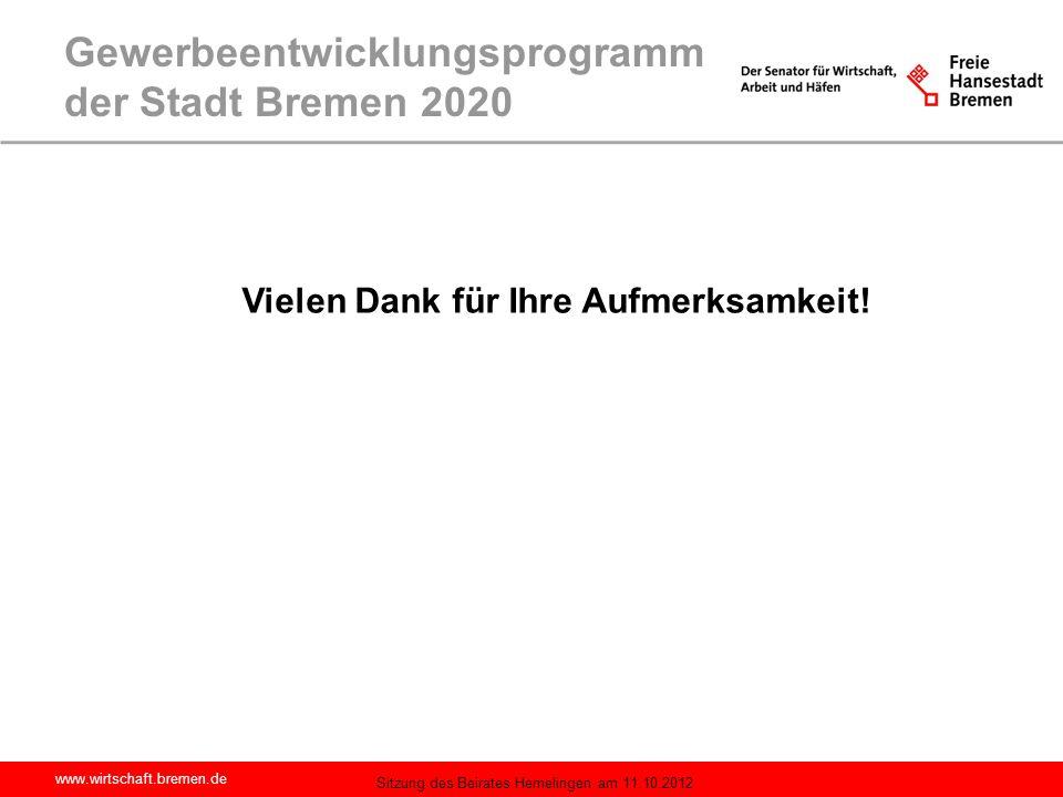 Gewerbeentwicklungsprogramm der Stadt Bremen 2020