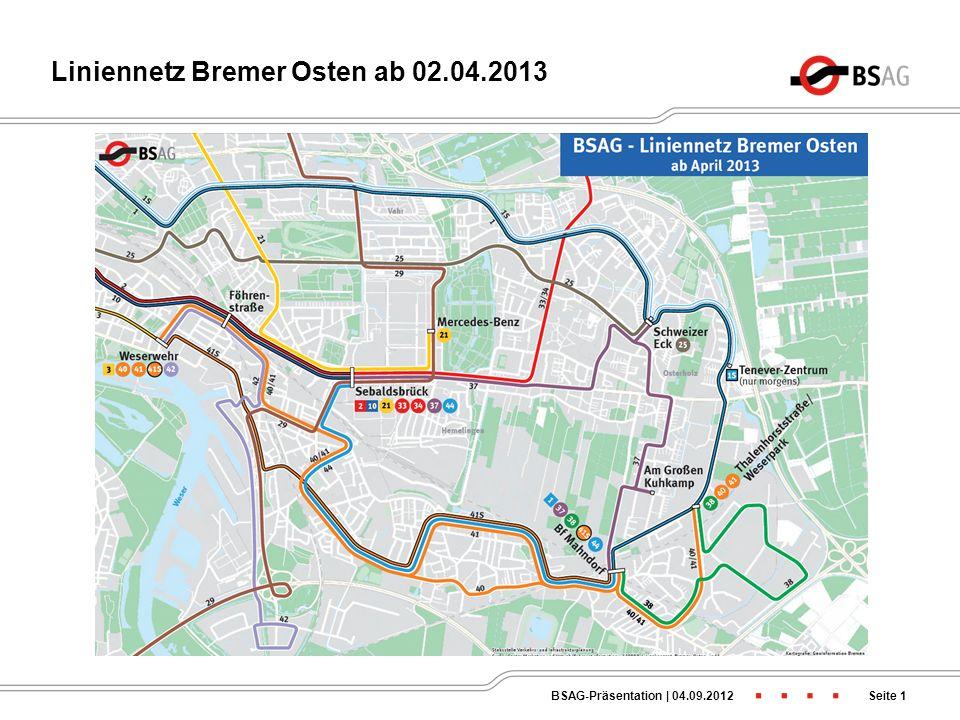 Liniennetz Bremer Osten ab 02.04.2013