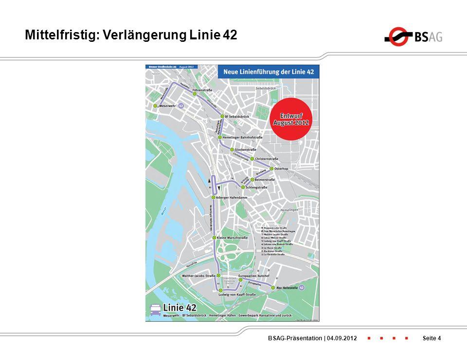 Mittelfristig: Verlängerung Linie 42