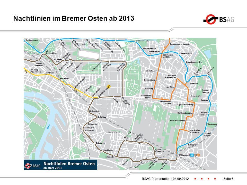 Nachtlinien im Bremer Osten ab 2013