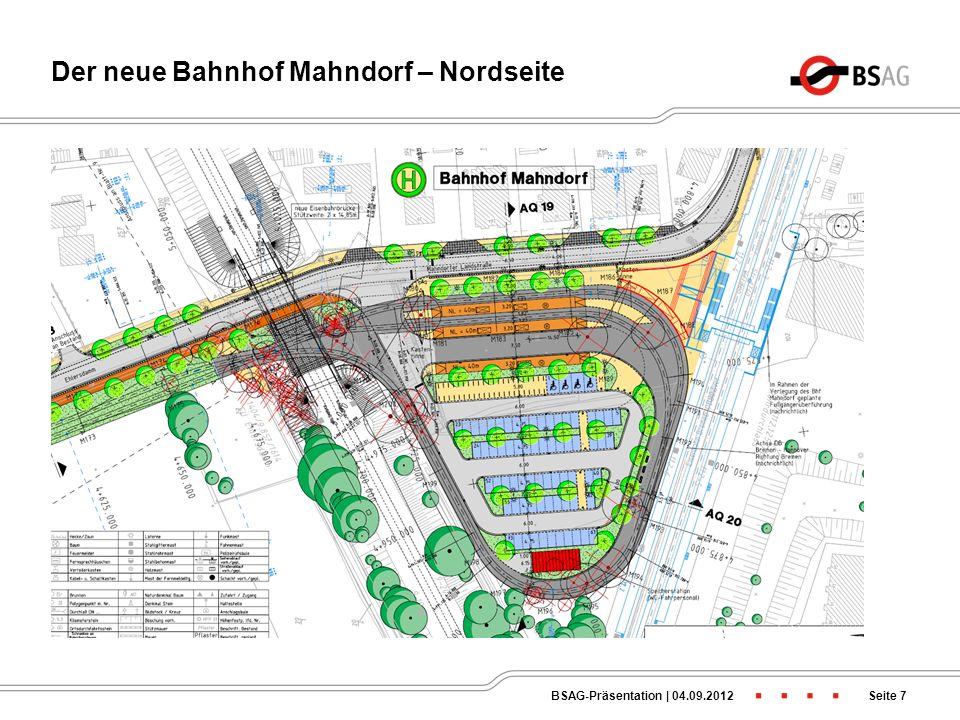 Der neue Bahnhof Mahndorf – Nordseite
