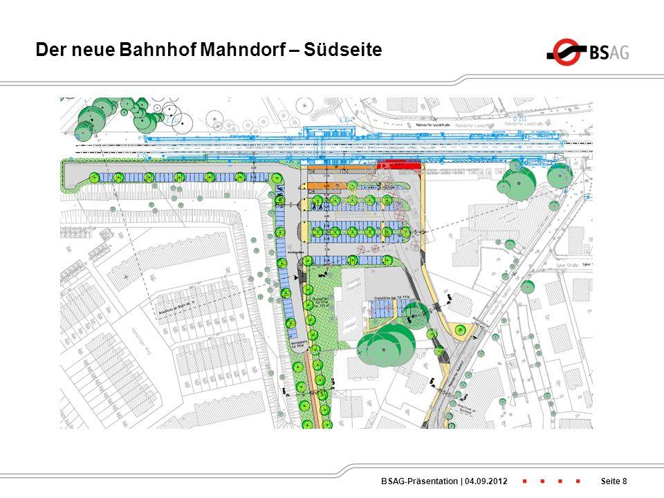 Der neue Bahnhof Mahndorf – Südseite