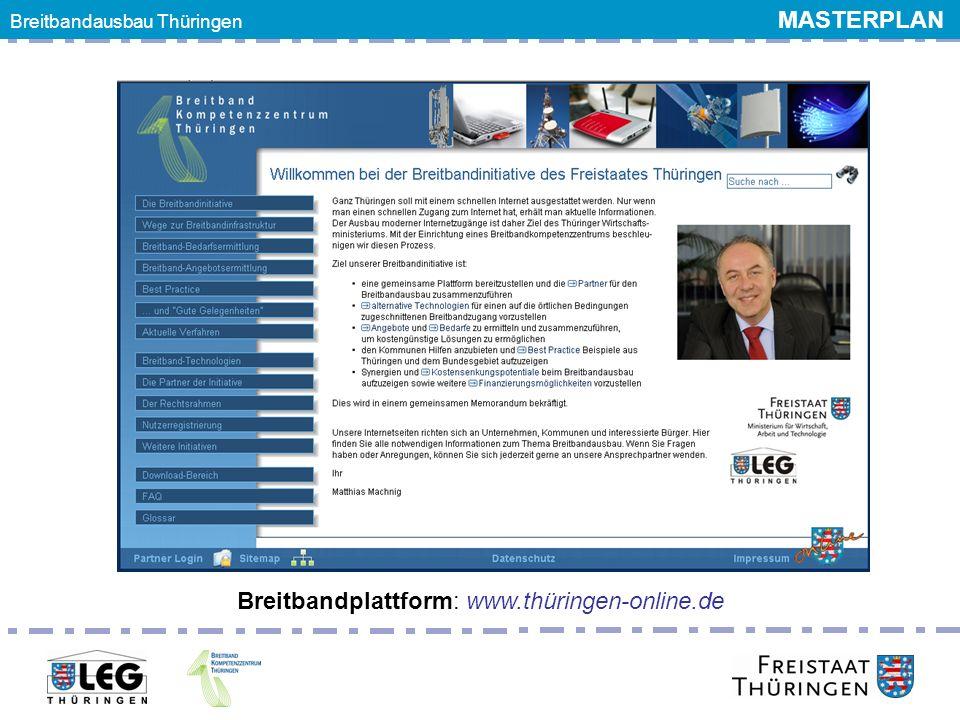 Breitbandplattform: www.thüringen-online.de