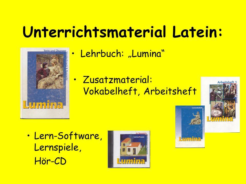 Unterrichtsmaterial Latein: