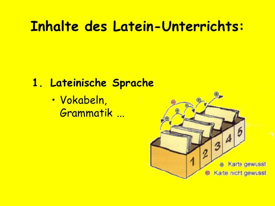 Inhalte des Latein-Unterrichts: