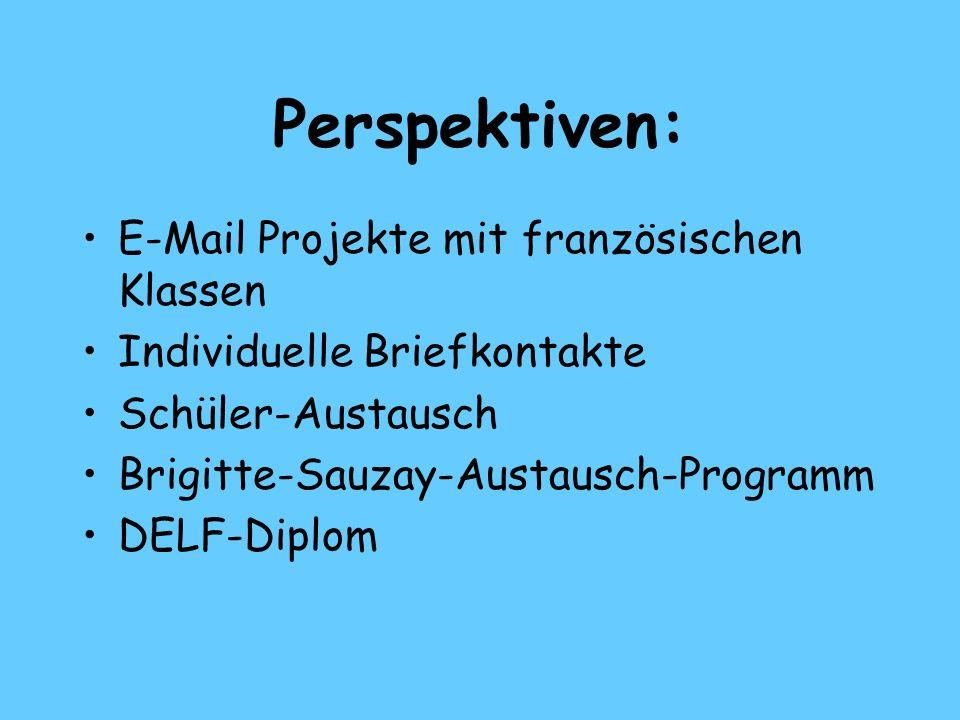 Perspektiven: E-Mail Projekte mit französischen Klassen
