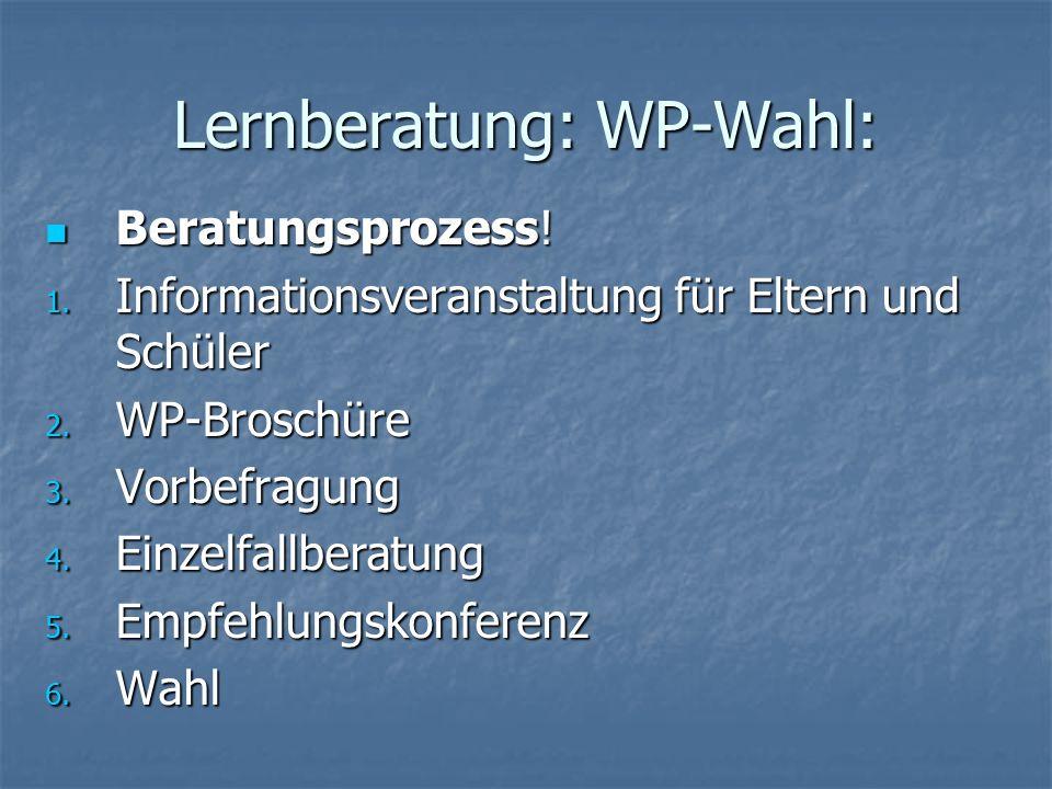 Lernberatung: WP-Wahl: