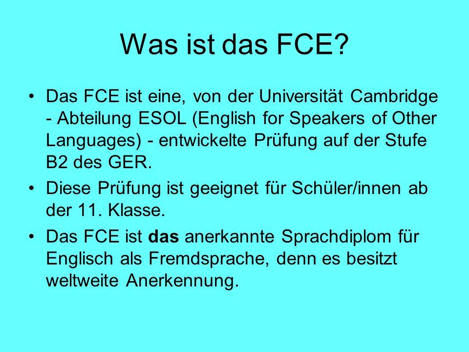 Was ist das FCE