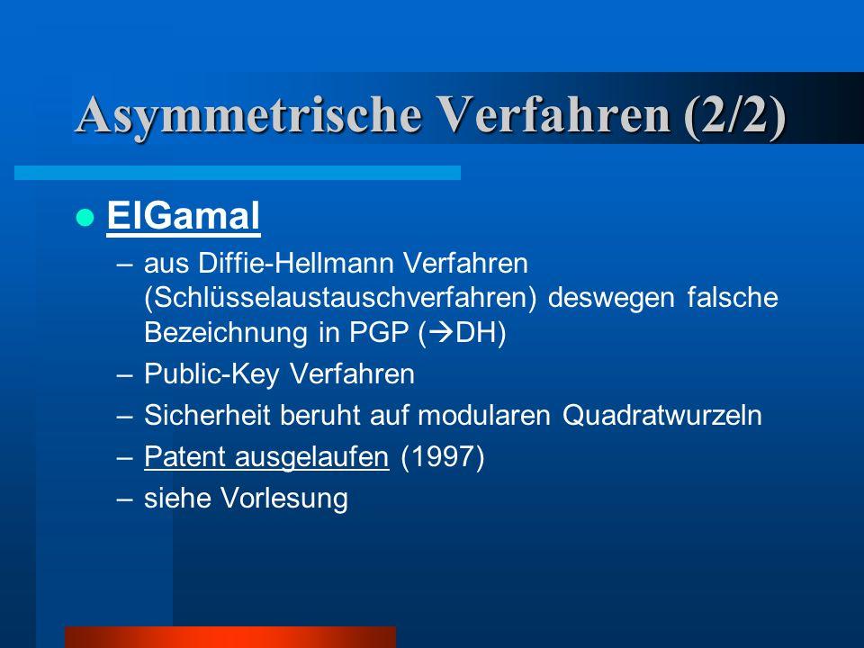 Asymmetrische Verfahren (2/2)