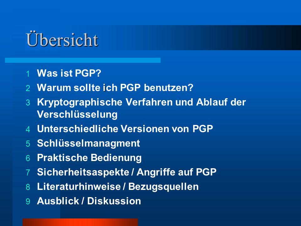 Übersicht Was ist PGP Warum sollte ich PGP benutzen