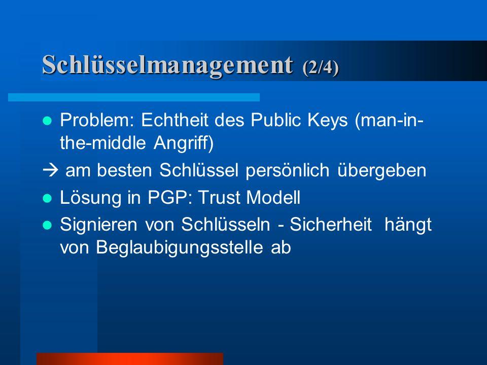 Schlüsselmanagement (2/4)