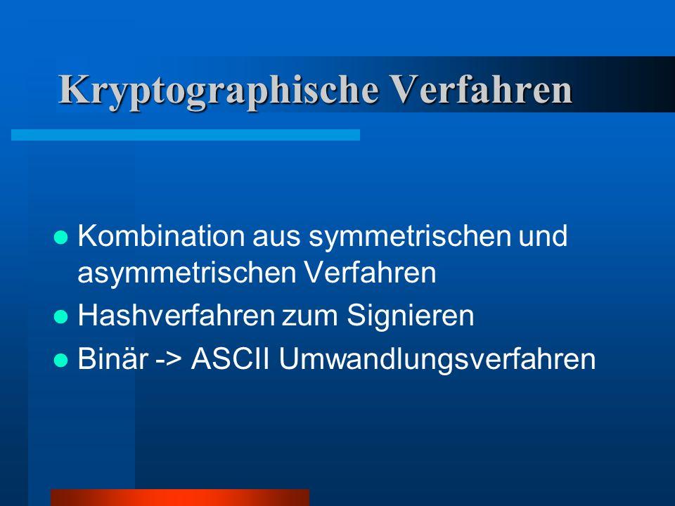 Kryptographische Verfahren