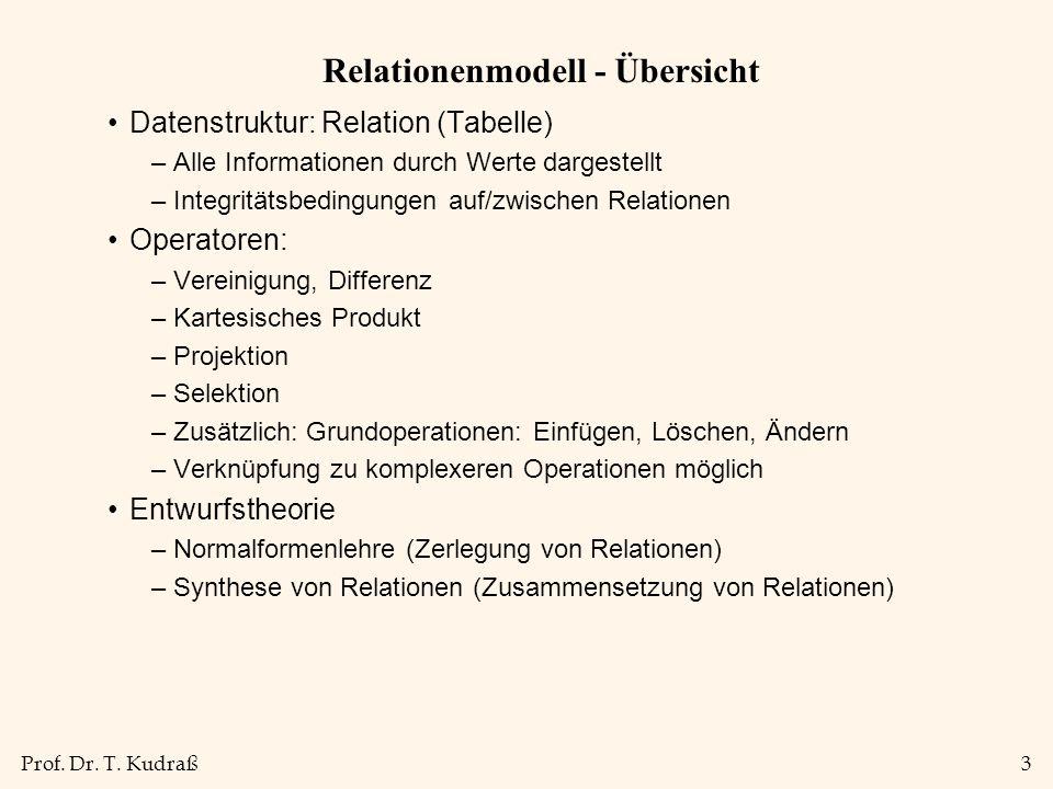Relationenmodell - Übersicht