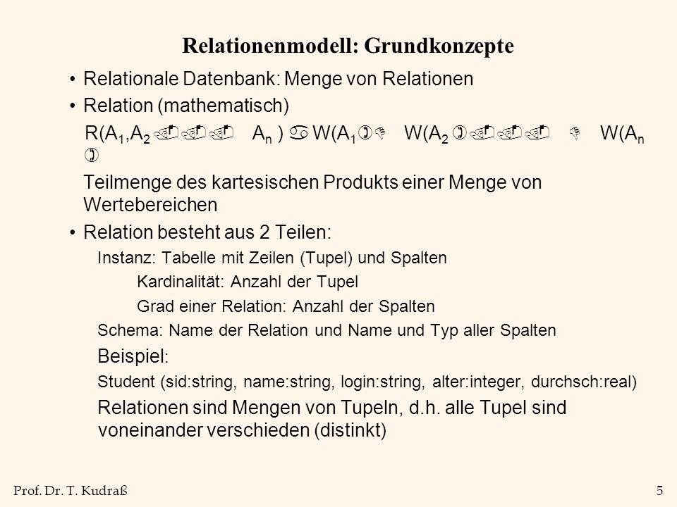 Relationenmodell: Grundkonzepte