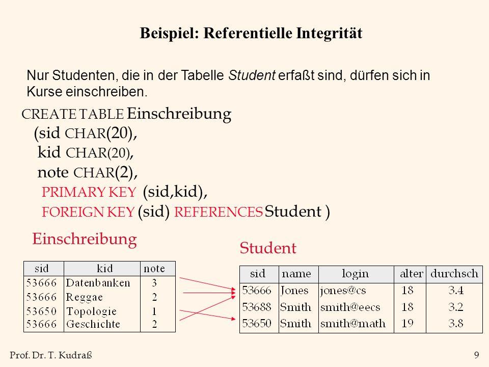 Beispiel: Referentielle Integrität