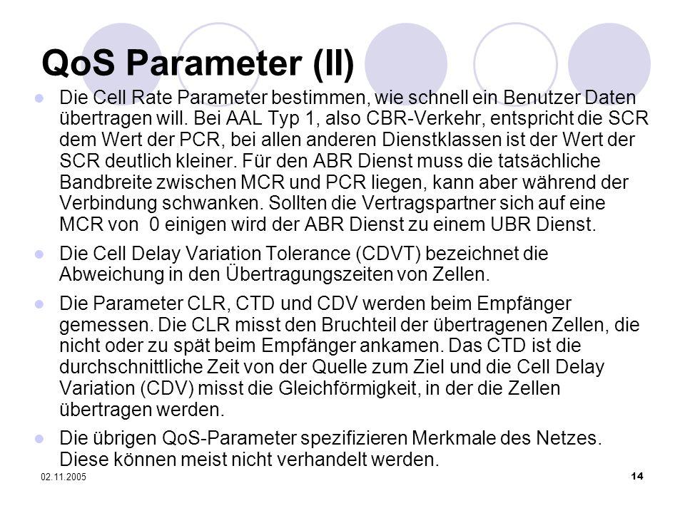 QoS Parameter (II)