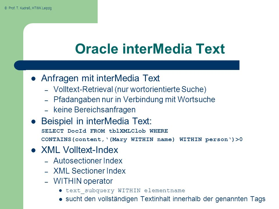 Oracle interMedia Text