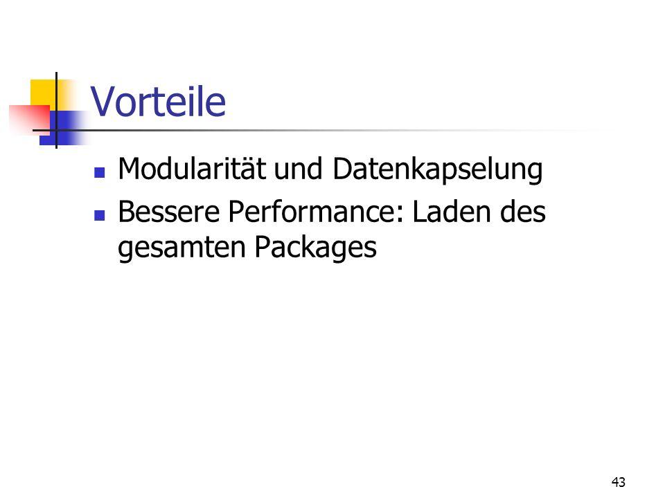 Vorteile Modularität und Datenkapselung