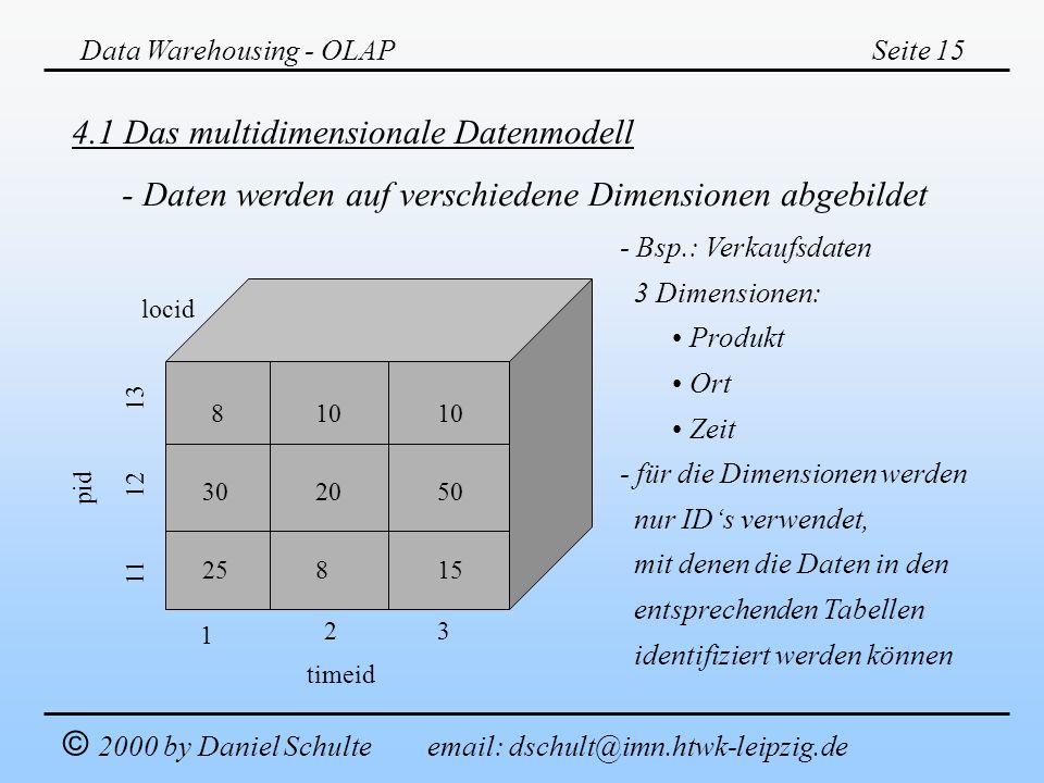 4.1 Das multidimensionale Datenmodell