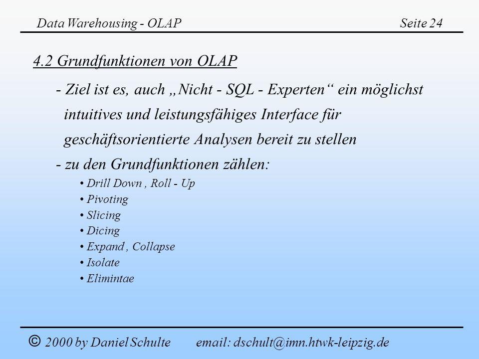 4.2 Grundfunktionen von OLAP