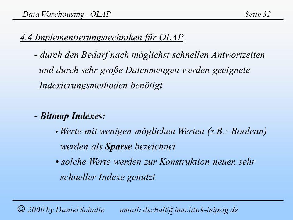 4.4 Implementierungstechniken für OLAP