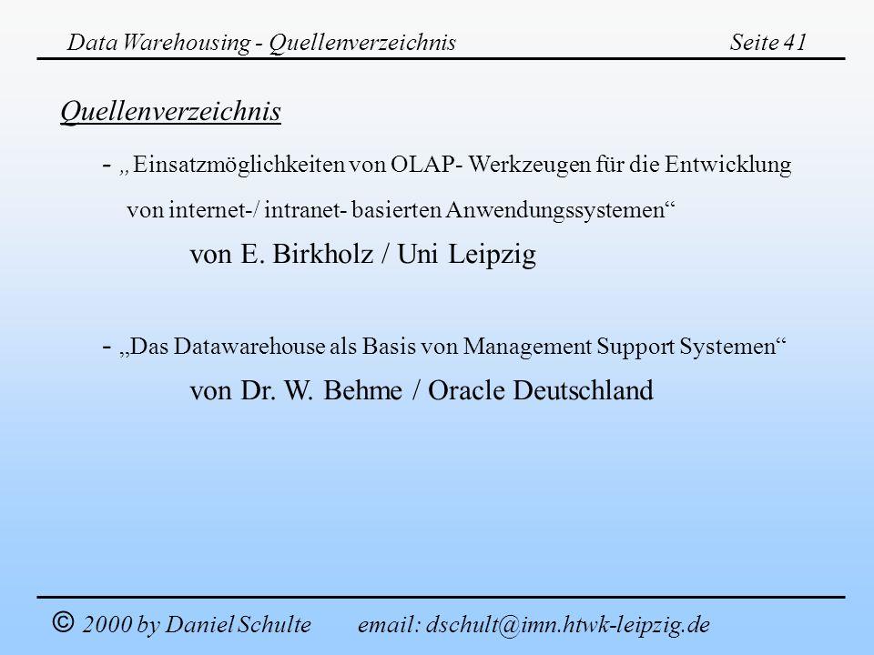 """- """"Einsatzmöglichkeiten von OLAP- Werkzeugen für die Entwicklung"""