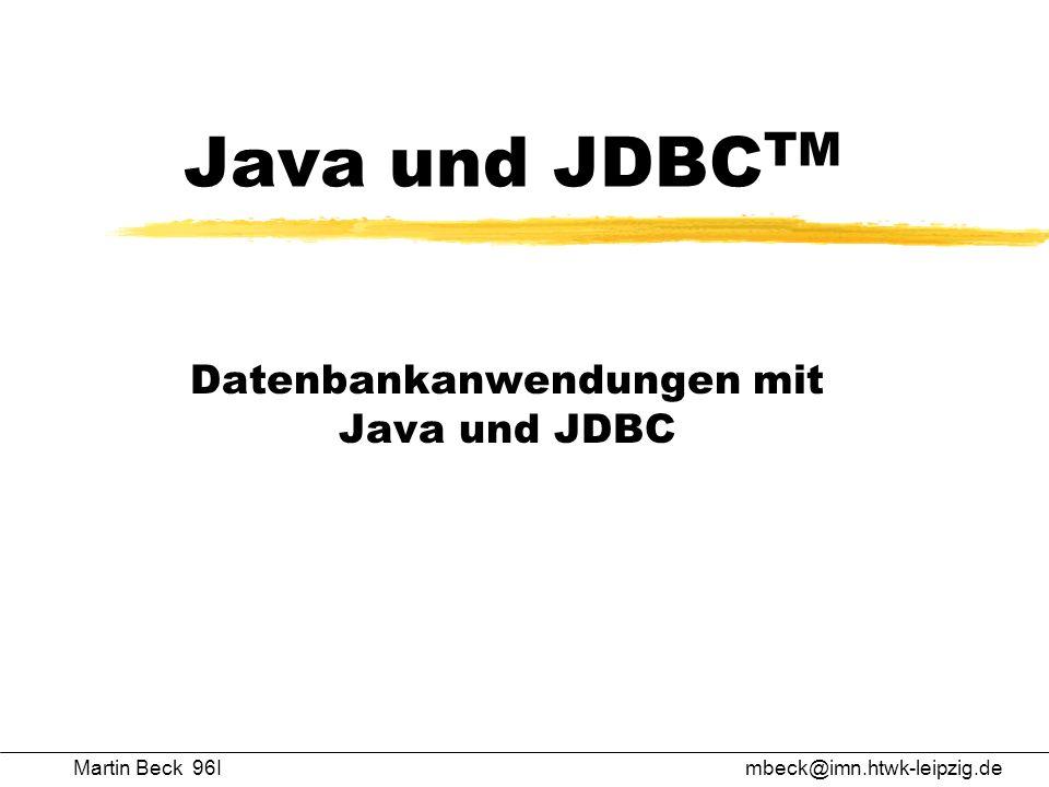 Datenbankanwendungen mit Java und JDBC