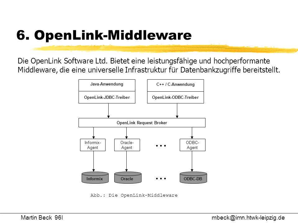 OpenLink-JDBC-Treiber OpenLink-ODBC-Treiber OpenLink Request Broker
