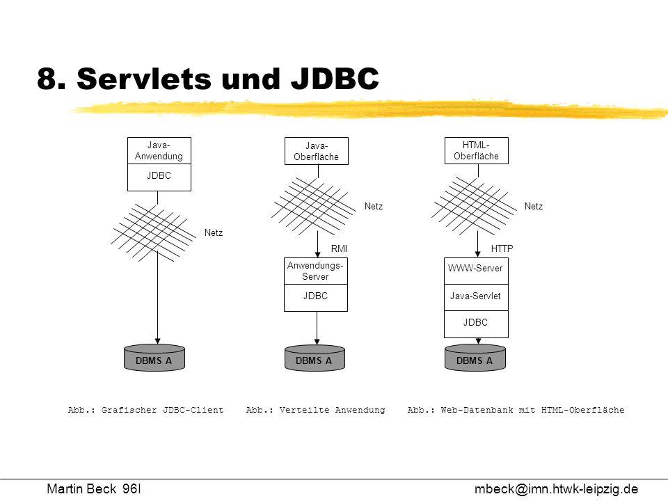 8. Servlets und JDBC Martin Beck 96I mbeck@imn.htwk-leipzig.de