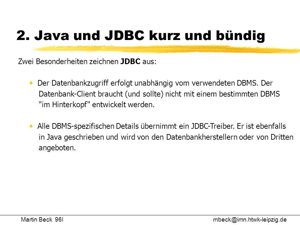 2. Java und JDBC kurz und bündig