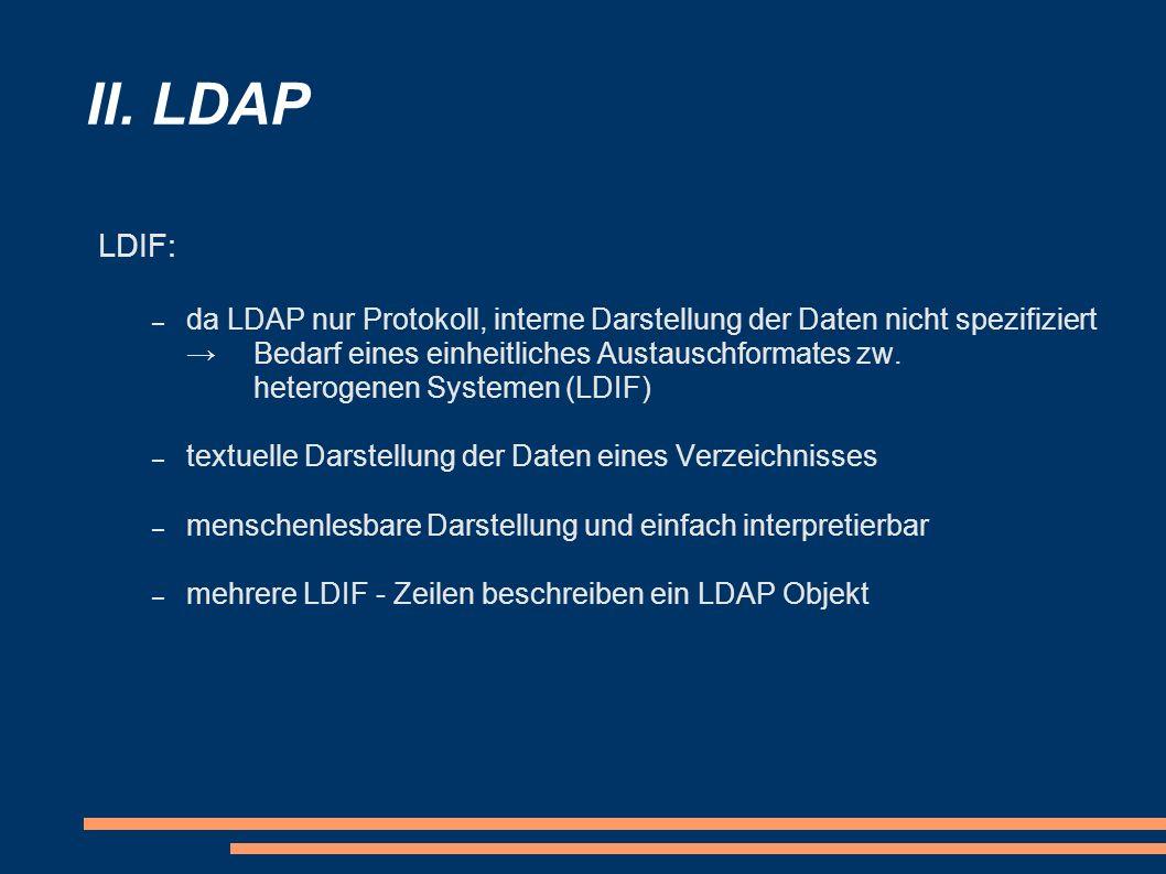 II. LDAP LDIF: