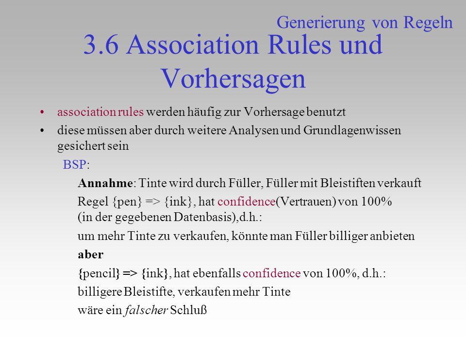 3.6 Association Rules und Vorhersagen