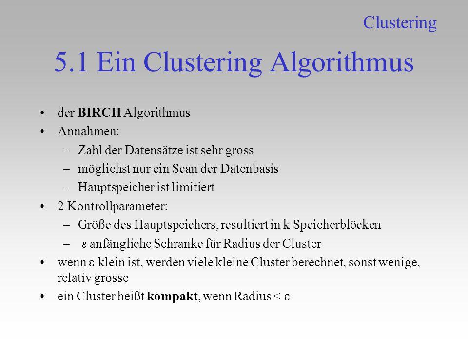 5.1 Ein Clustering Algorithmus