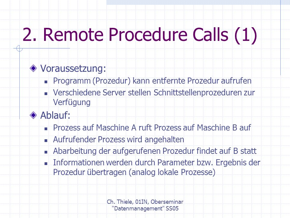 2. Remote Procedure Calls (1)