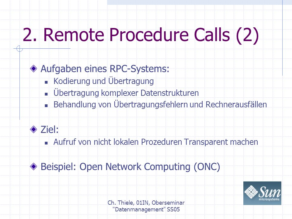 2. Remote Procedure Calls (2)