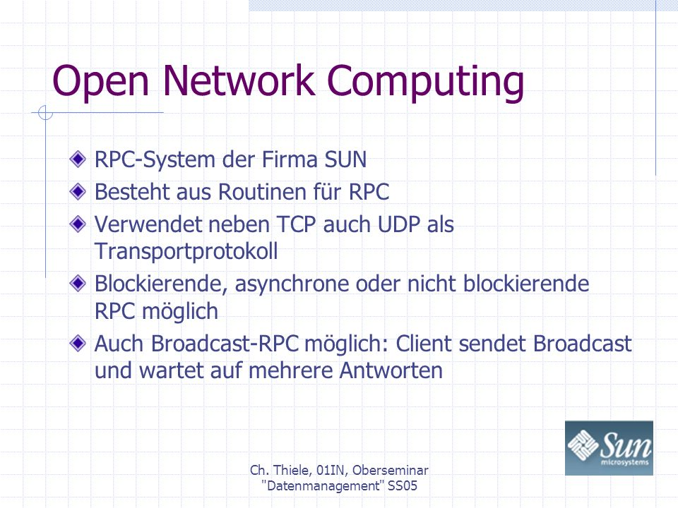 Open Network Computing