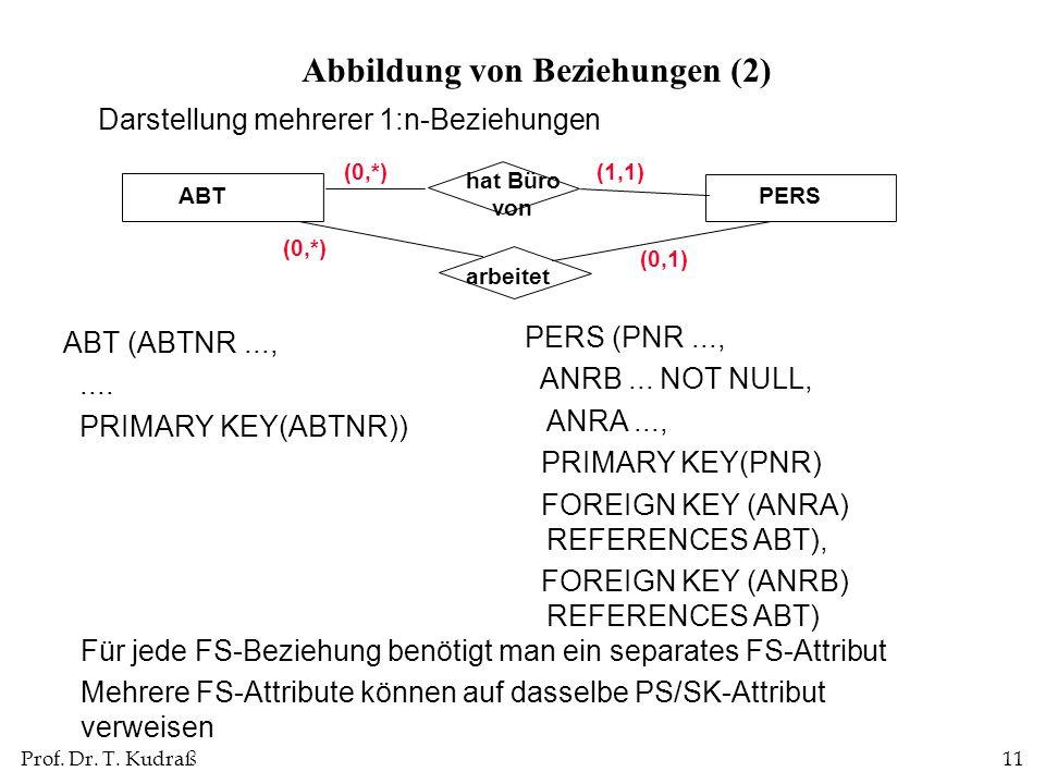 Abbildung von Beziehungen (2)