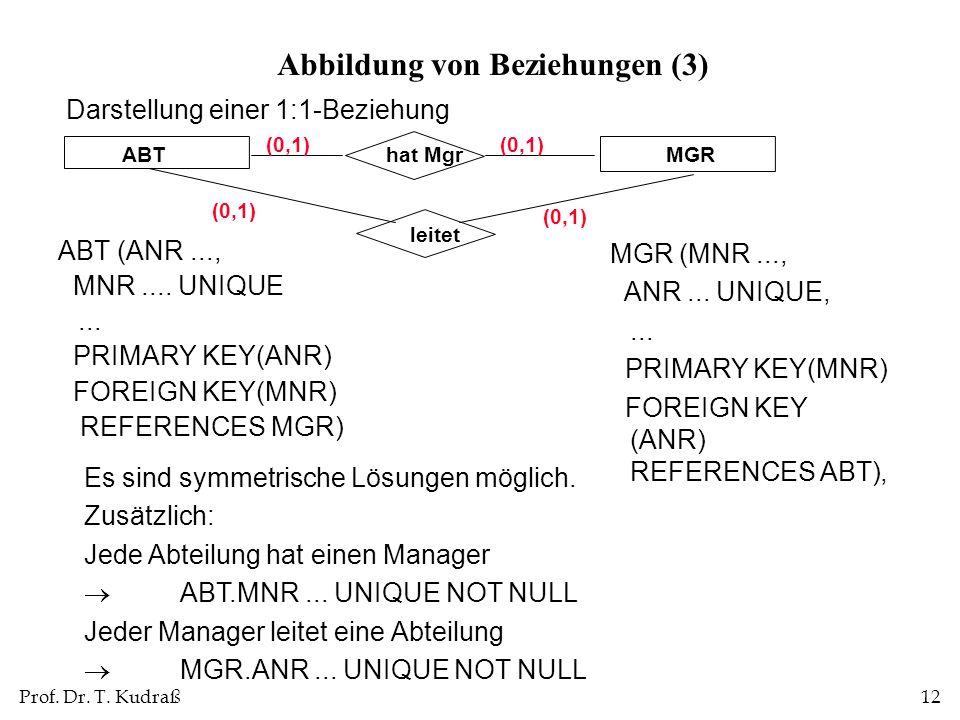 Abbildung von Beziehungen (3)