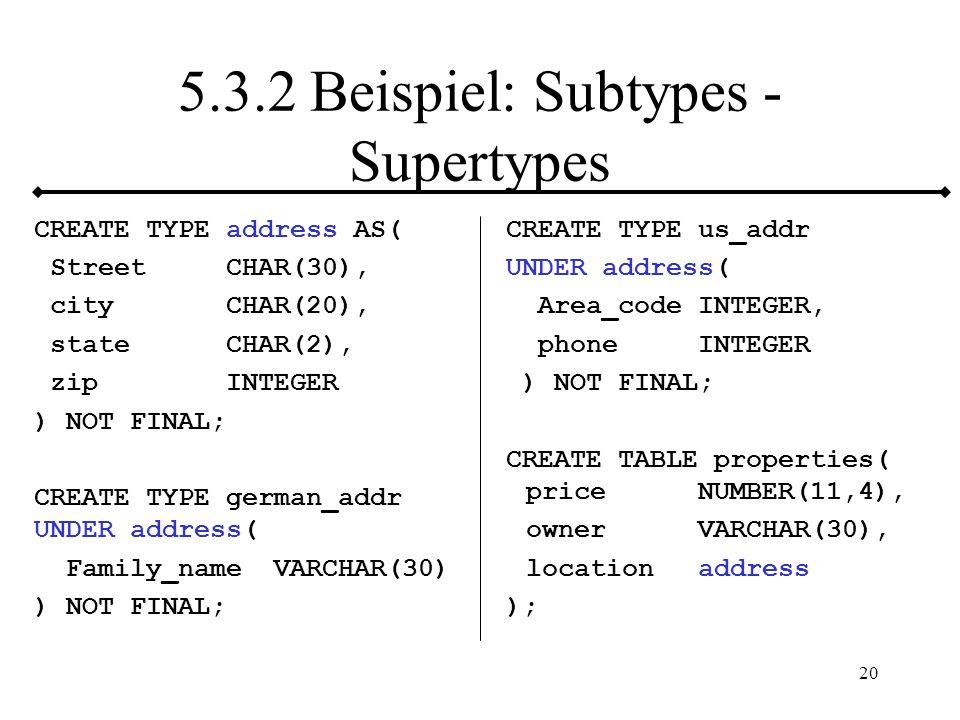 5.3.2 Beispiel: Subtypes - Supertypes