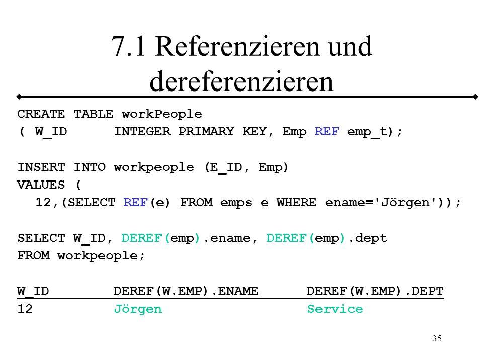7.1 Referenzieren und dereferenzieren