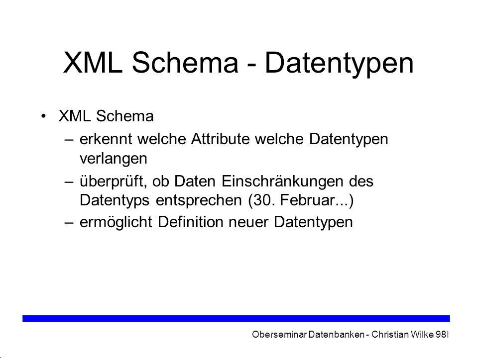 XML Schema - Datentypen