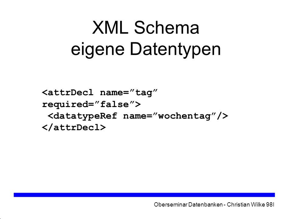 XML Schema eigene Datentypen
