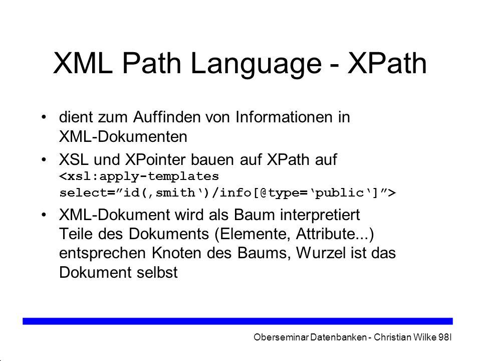 XML Path Language - XPath