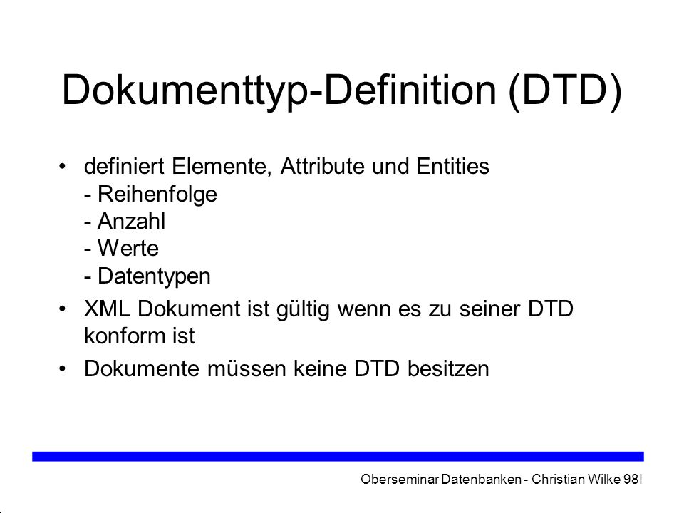 Dokumenttyp-Definition (DTD)