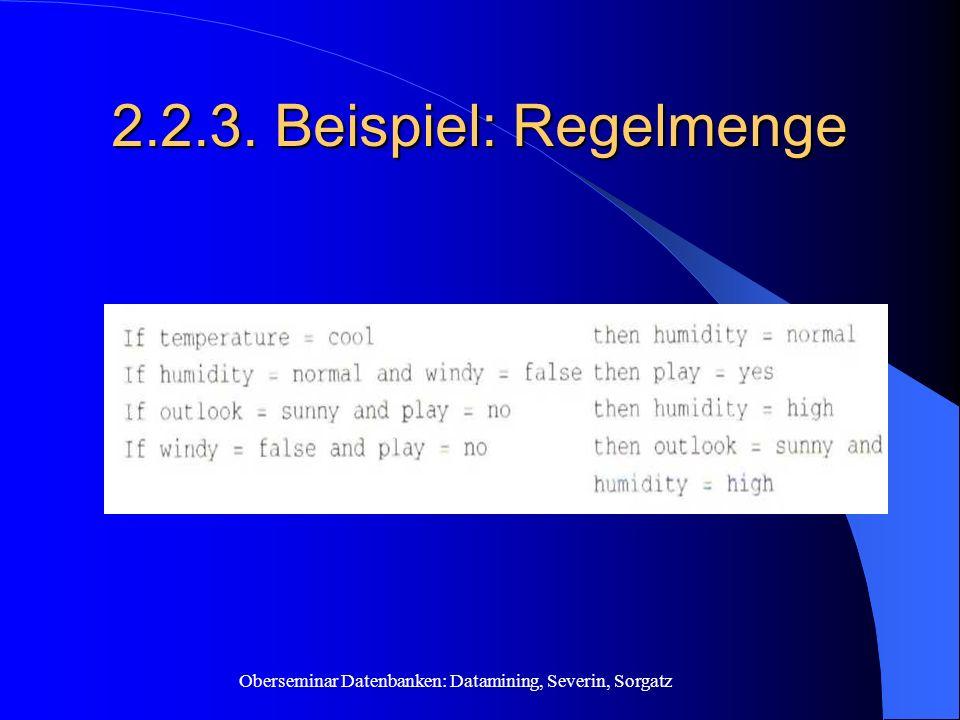 2.2.3. Beispiel: Regelmenge