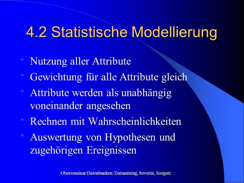 4.2 Statistische Modellierung