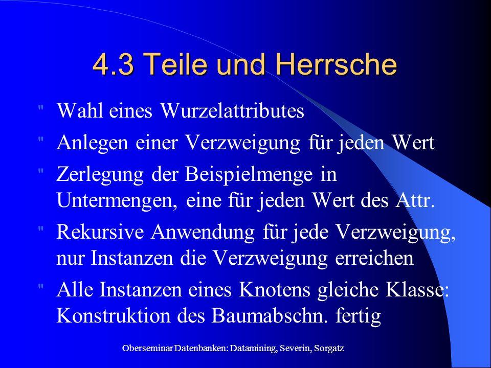 4.3 Teile und Herrsche Wahl eines Wurzelattributes